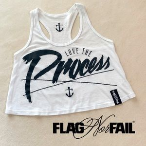 Women's Flag nor Fail Crop Top, S